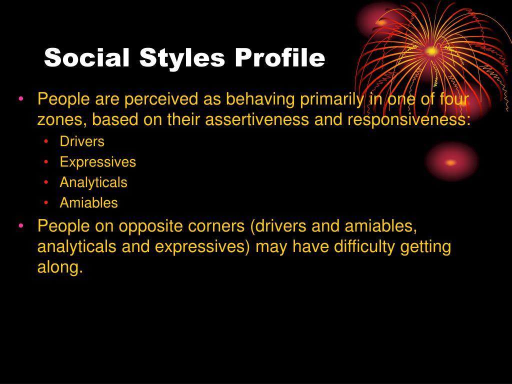 Social Styles Profile
