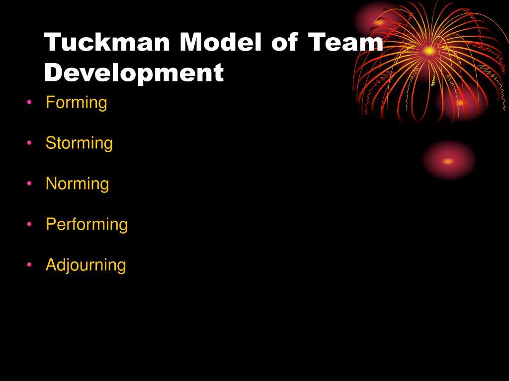 Tuckman Model of Team Development
