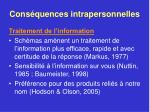 cons quences intrapersonnelles39