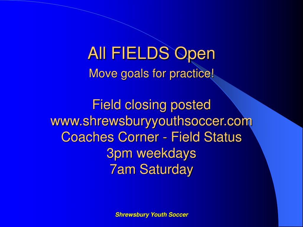 All FIELDS Open
