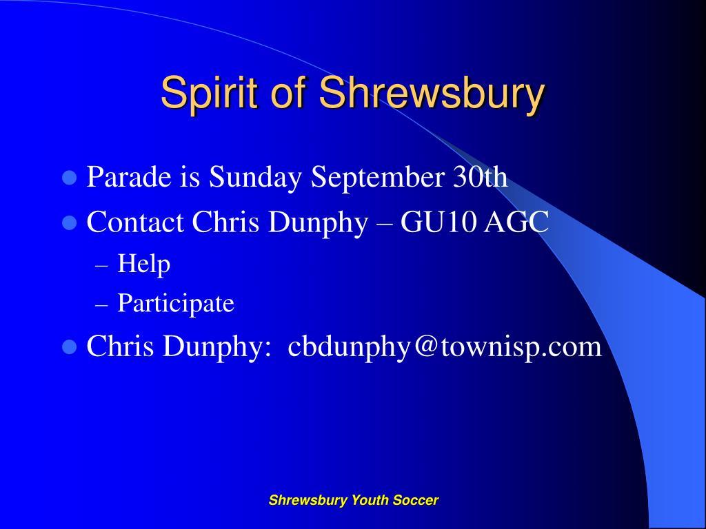 Spirit of Shrewsbury
