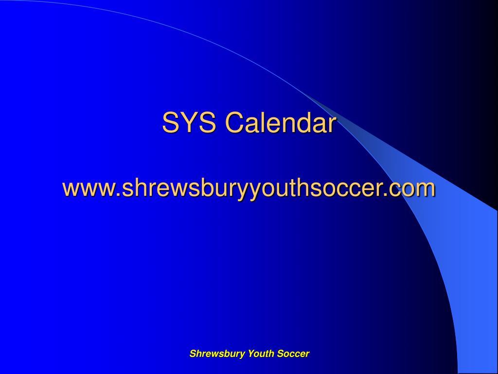 SYS Calendar