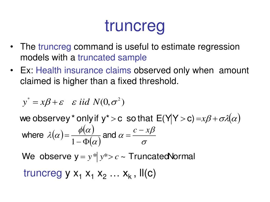 truncreg