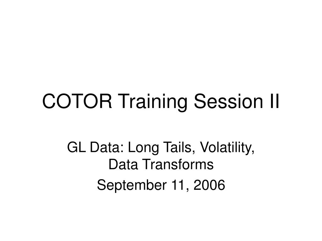 cotor training session ii