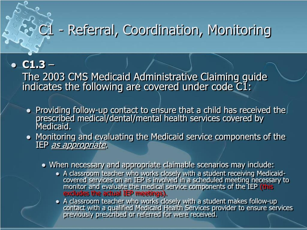 C1 - Referral, Coordination, Monitoring