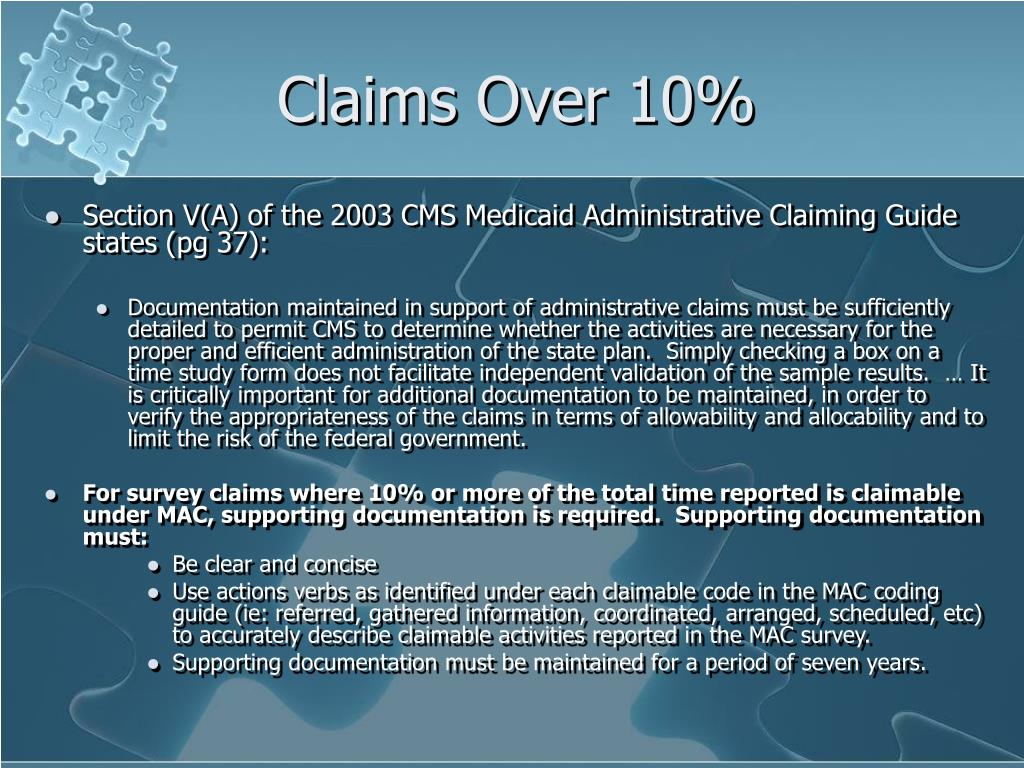 Claims Over 10%