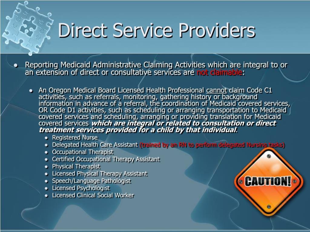 Direct Service Providers