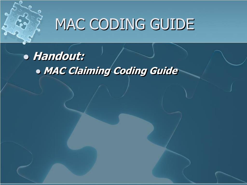 MAC CODING GUIDE