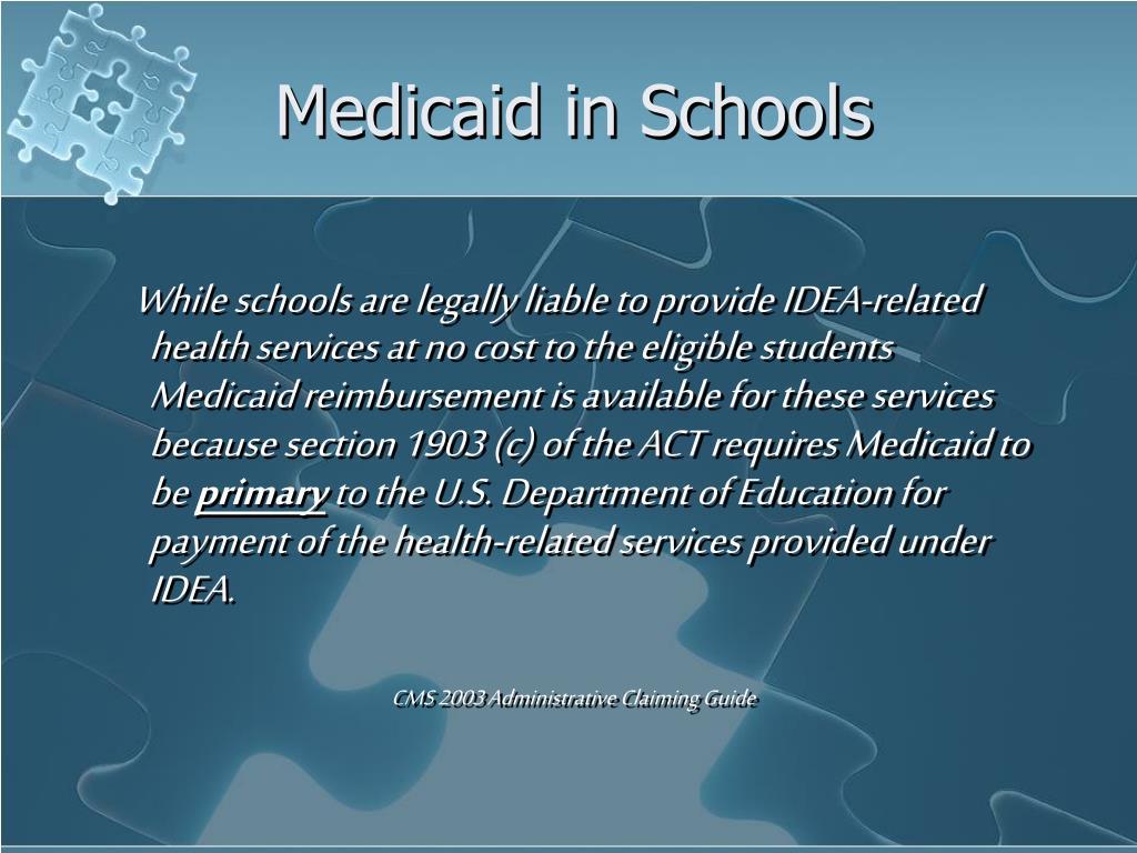 Medicaid in Schools