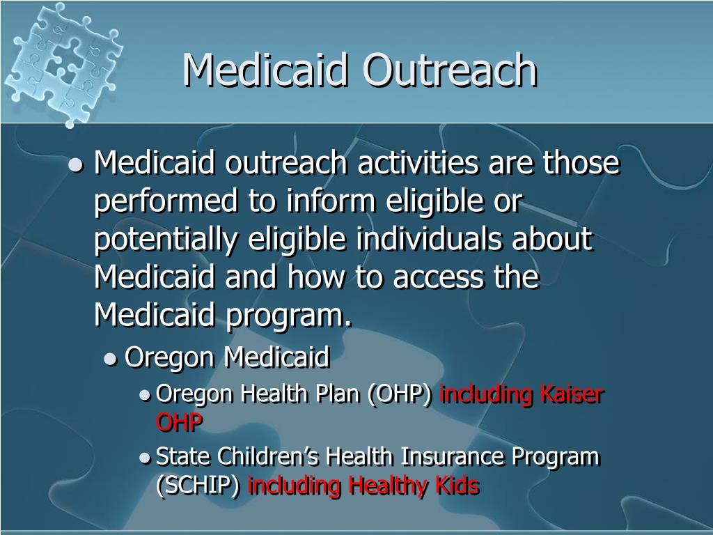 Medicaid Outreach