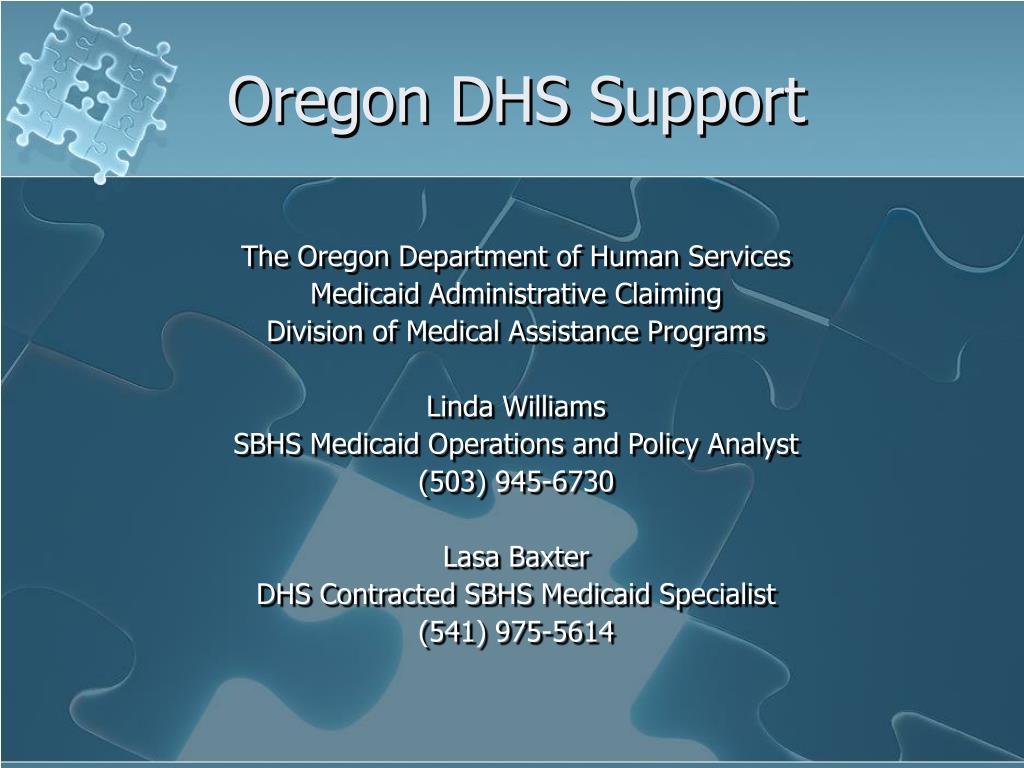 Oregon DHS Support