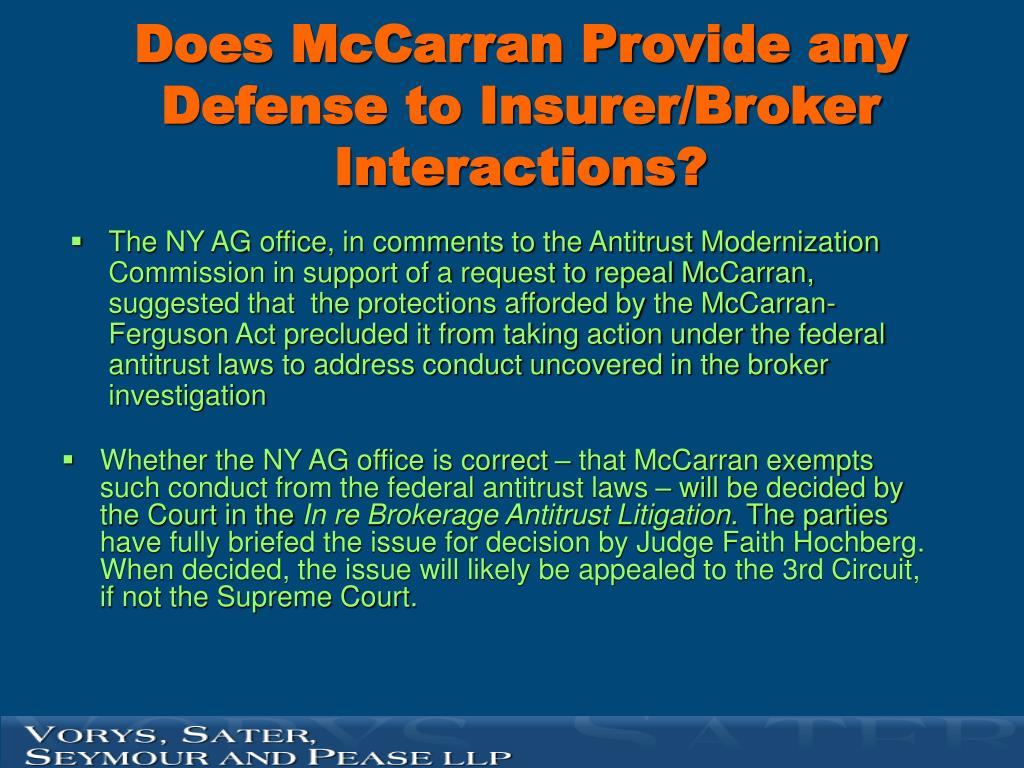 Does McCarran Provide any Defense to Insurer/Broker Interactions?