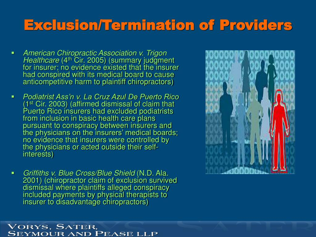 Exclusion/Termination of Providers