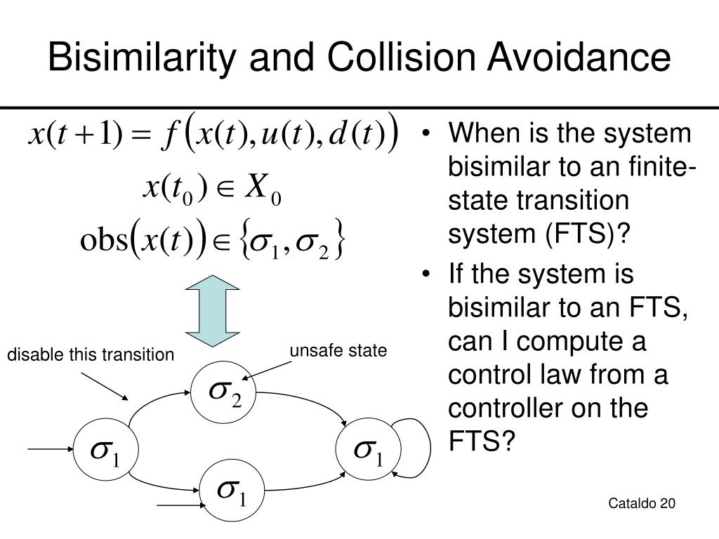 Bisimilarity and Collision Avoidance