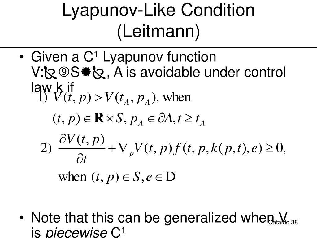 Lyapunov-Like Condition