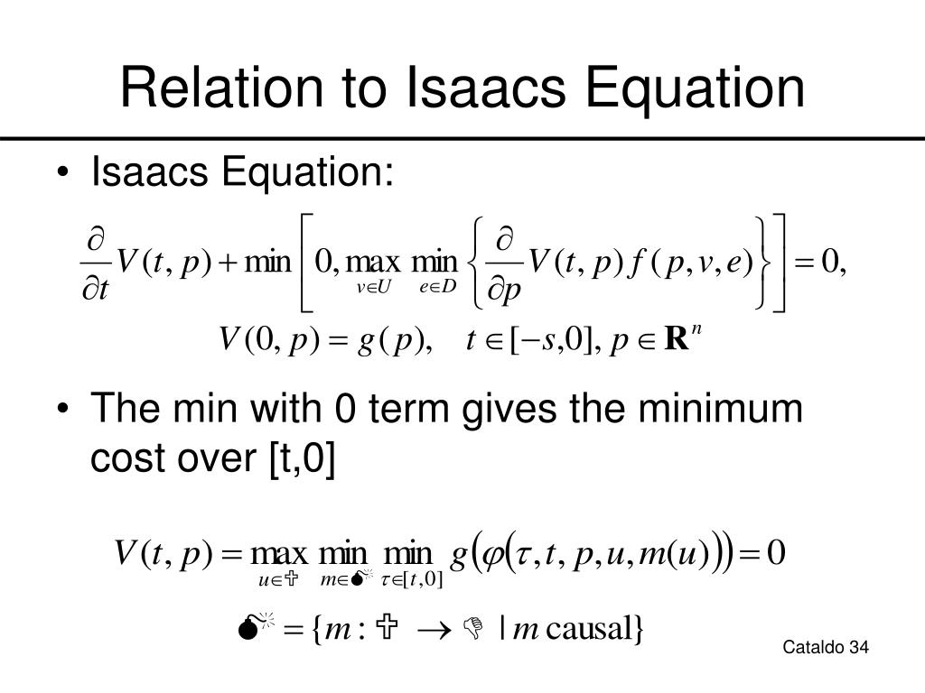 Relation to Isaacs Equation