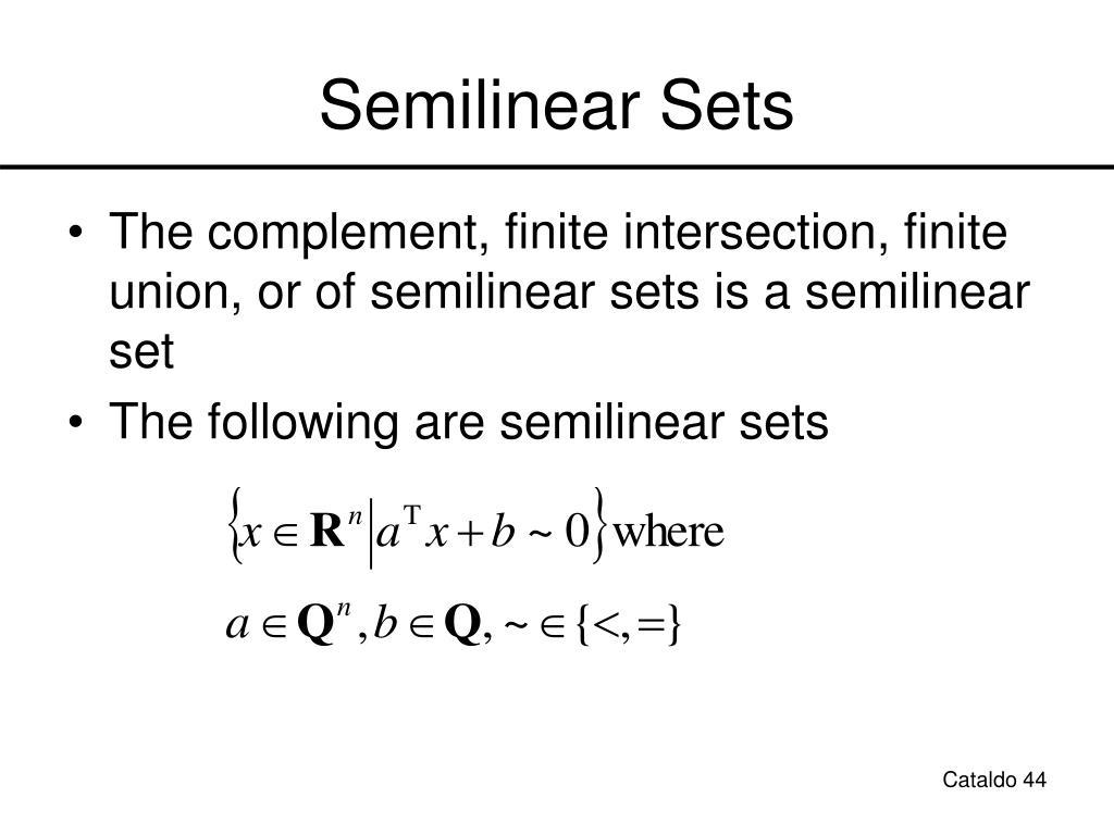 Semilinear Sets