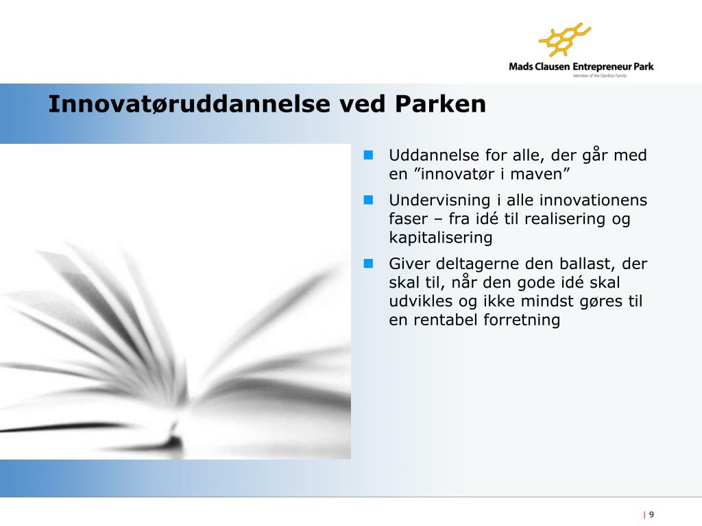 Innovatøruddannelse ved Parken