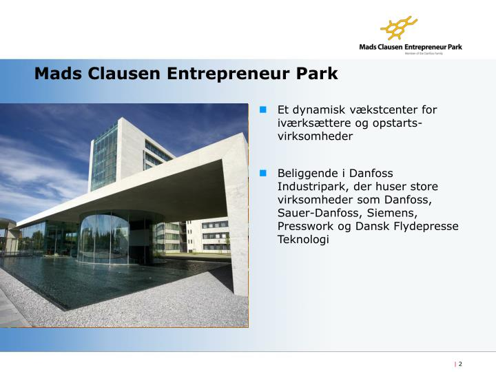 Mads clausen entrepreneur park2