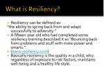 what is resiliency
