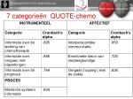 7 categorie n quote chemo