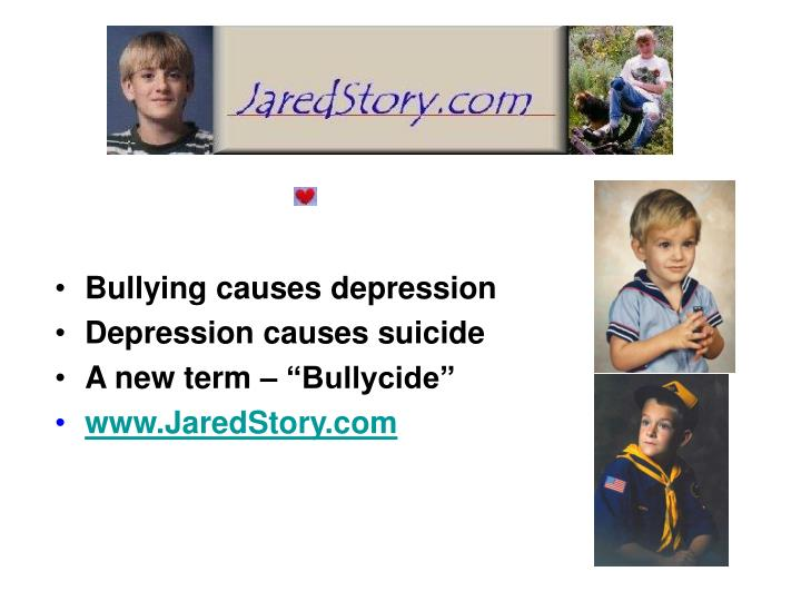 Bullying causes depression