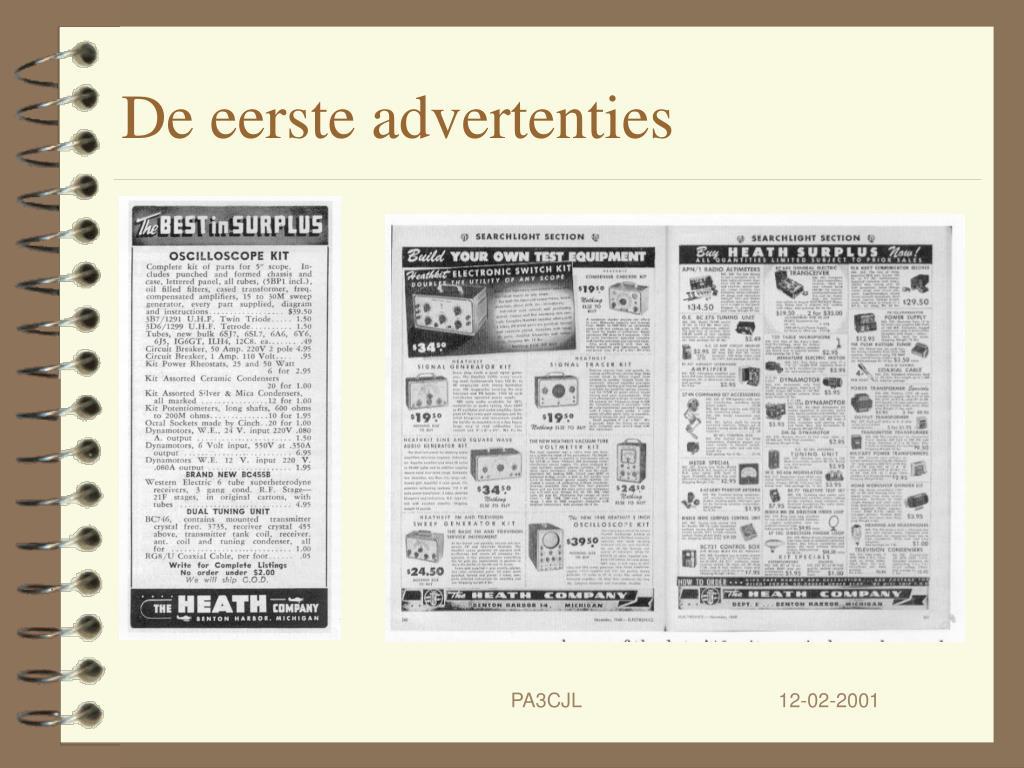 De eerste advertenties