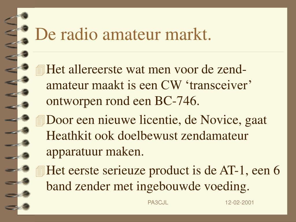 De radio amateur markt.