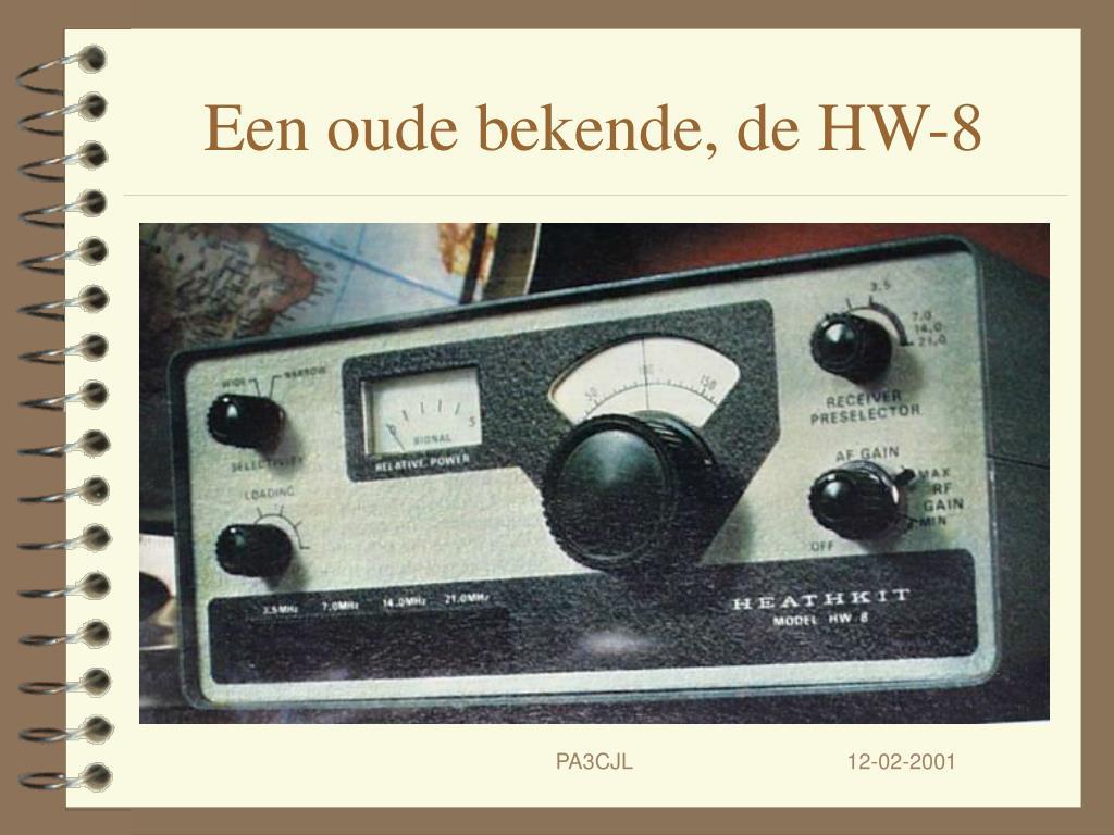 Een oude bekende, de HW-8