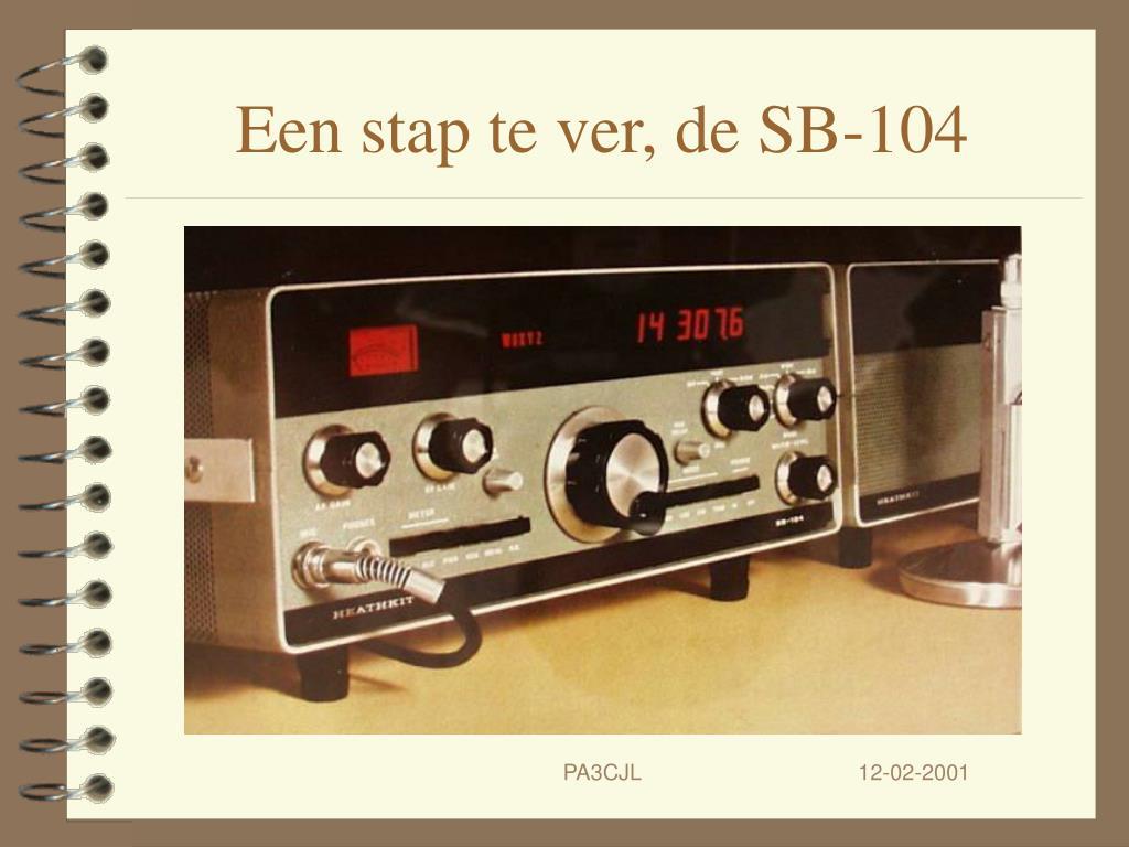 Een stap te ver, de SB-104