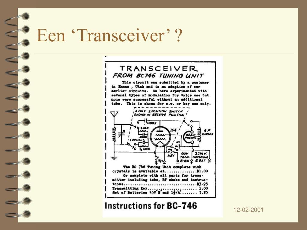 Een 'Transceiver' ?