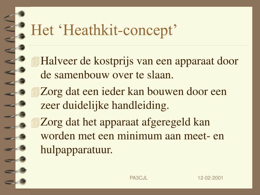 Het 'Heathkit-concept'