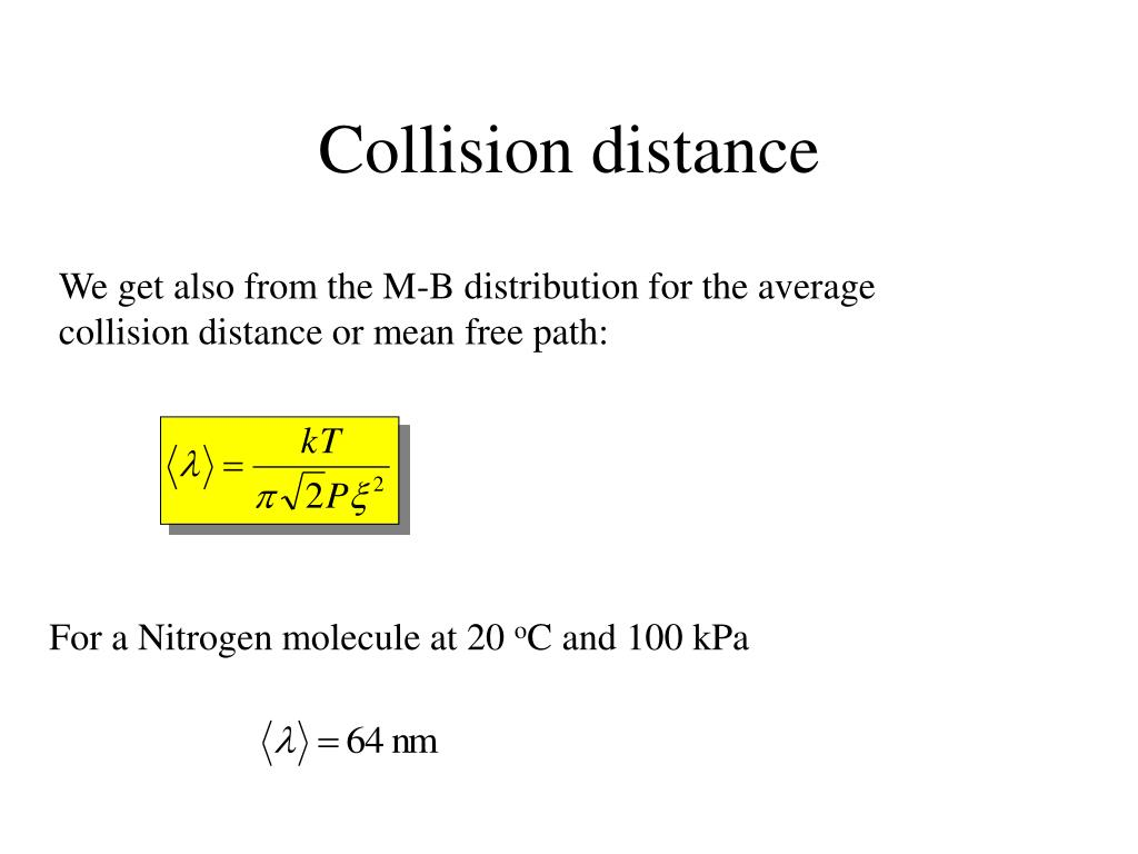 Collision distance