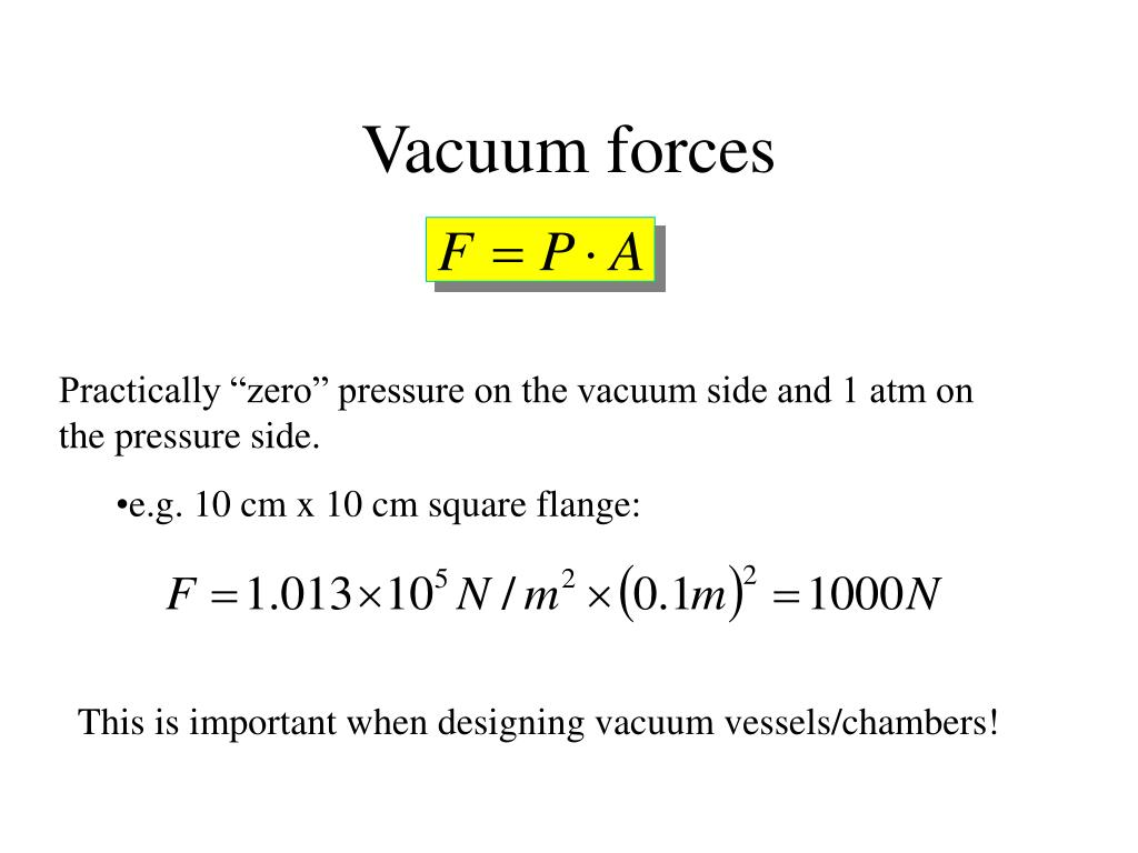 Vacuum forces