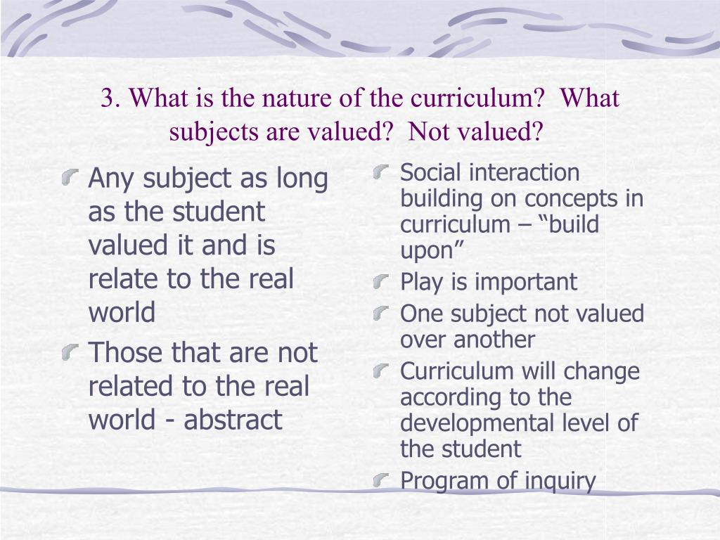 Any subject as long as the student valued it and is relate to the real world