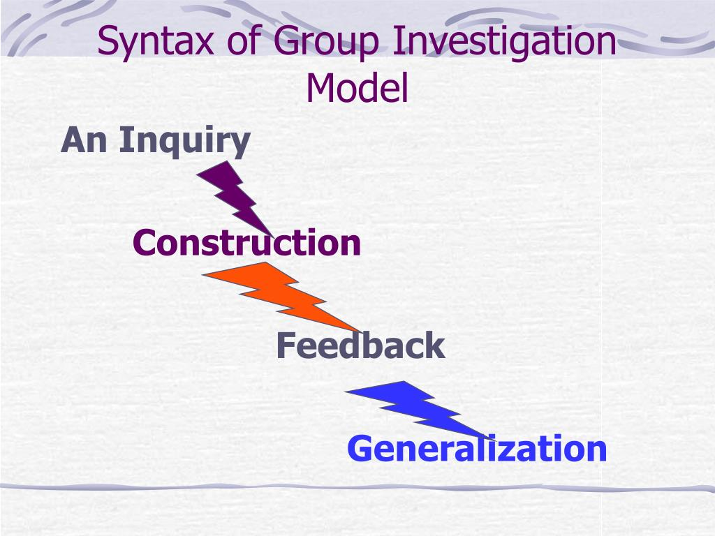 Syntax of Group Investigation Model