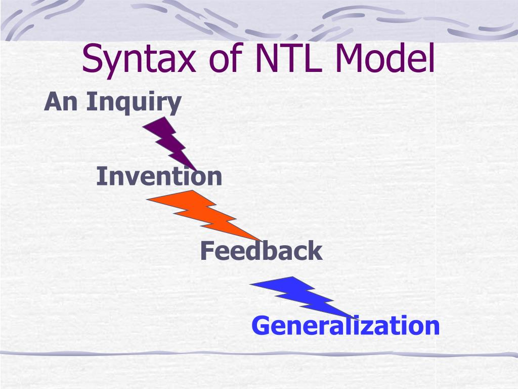 Syntax of NTL Model