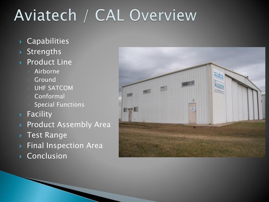 aviatech cal overview l.