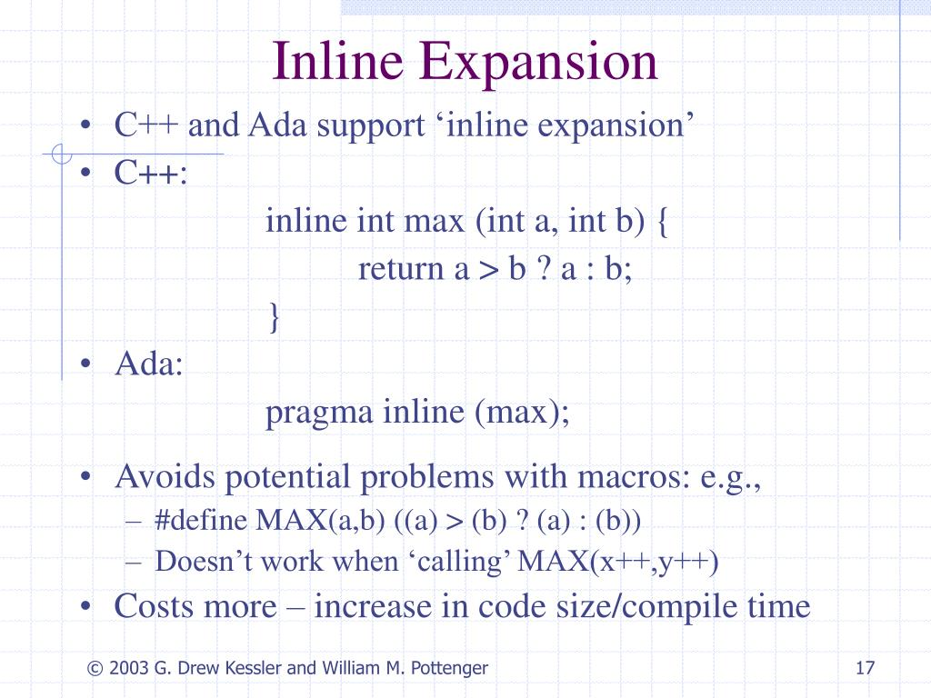 Inline Expansion