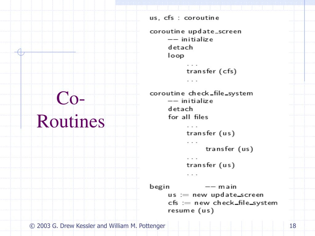Co- Routines