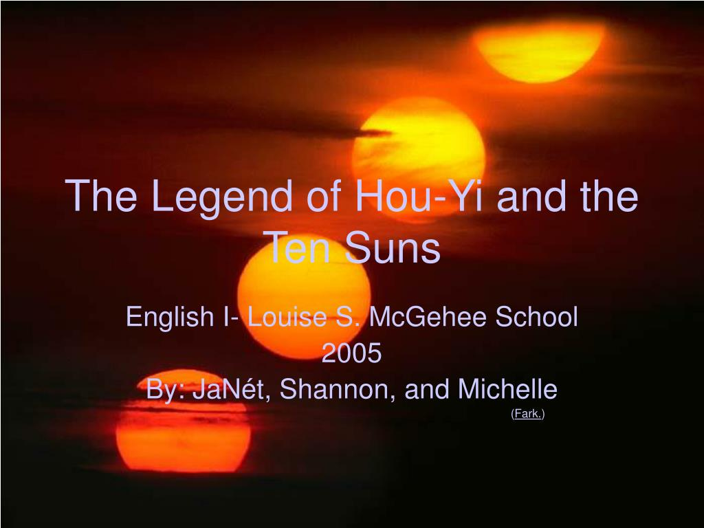 the legend of hou yi and the ten suns