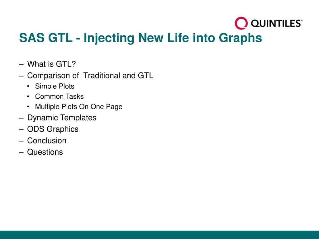 SAS GTL - Injecting New Life into Graphs