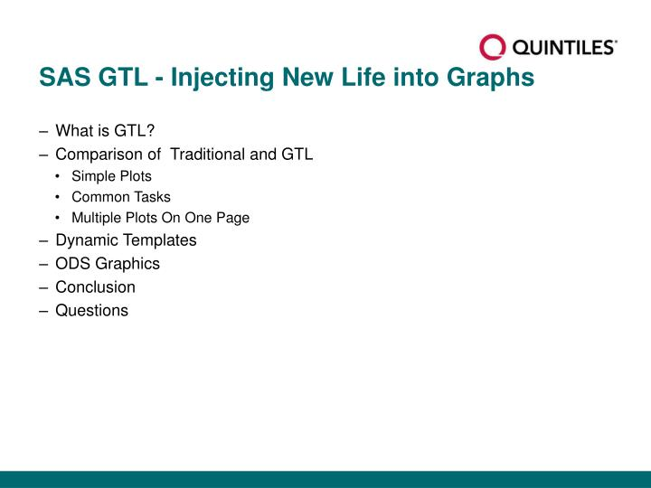 Sas gtl injecting new life into graphs
