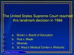 the united states supreme court reached this landmark decision in 1966