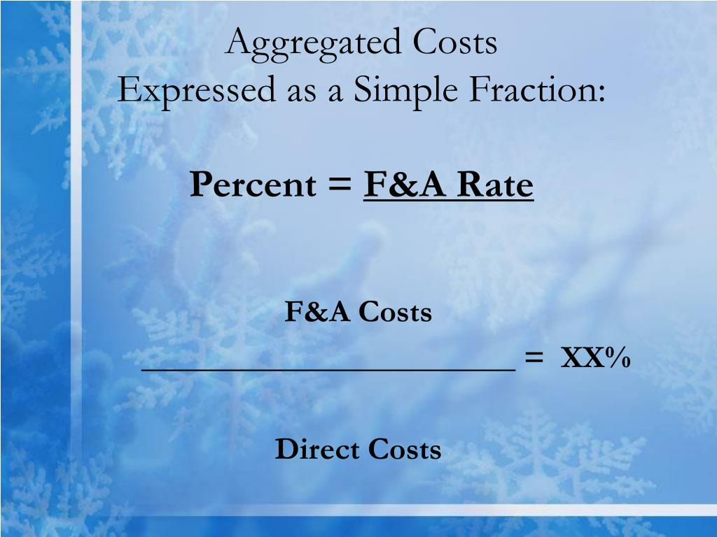 Aggregated Costs