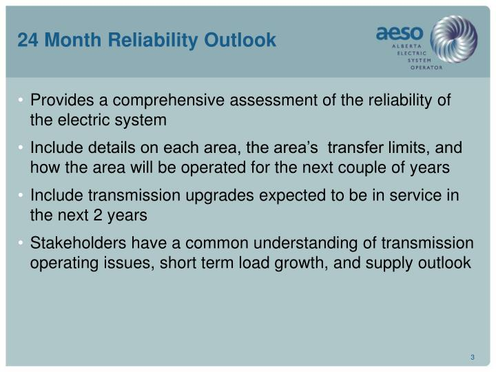24 month reliability outlook3