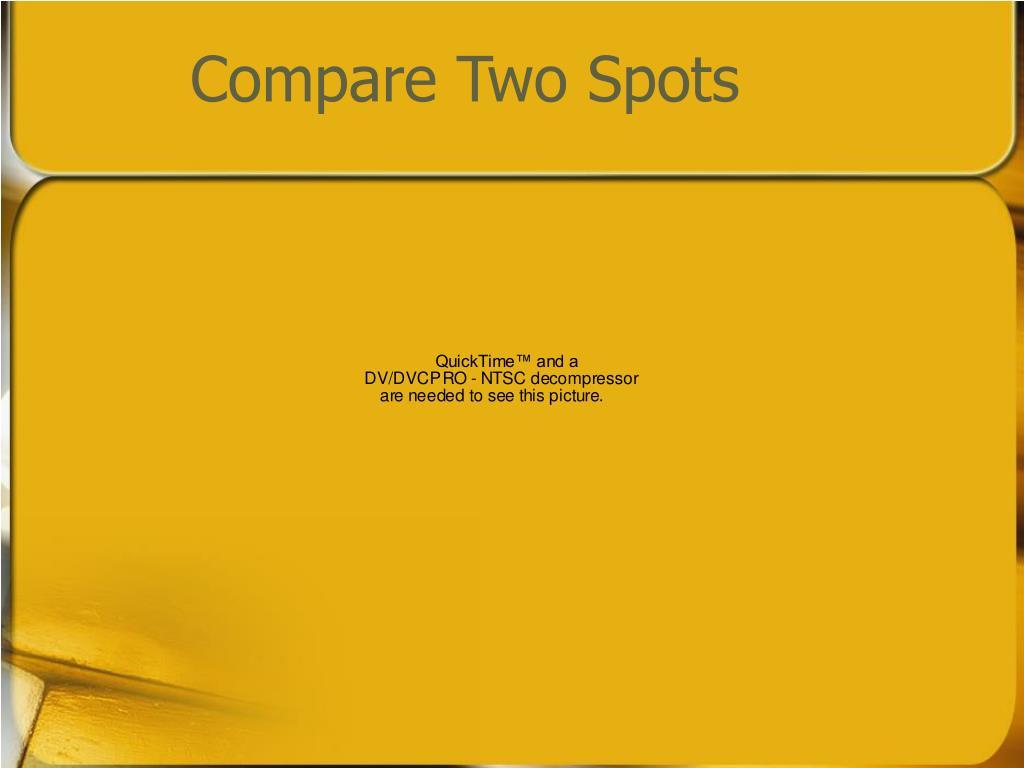 Compare Two Spots