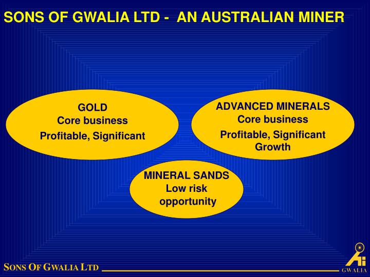 Sons of gwalia ltd an australian miner