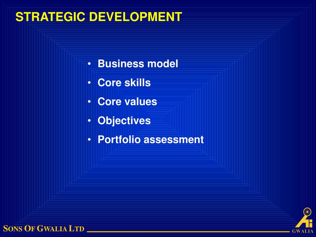 STRATEGIC DEVELOPMENT
