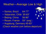 weather average low high